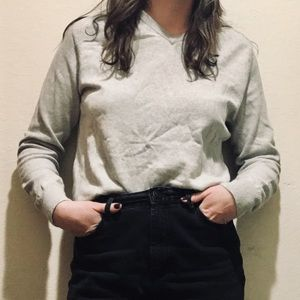 Cotton-Cashmere J Crew V-Neck Sweater